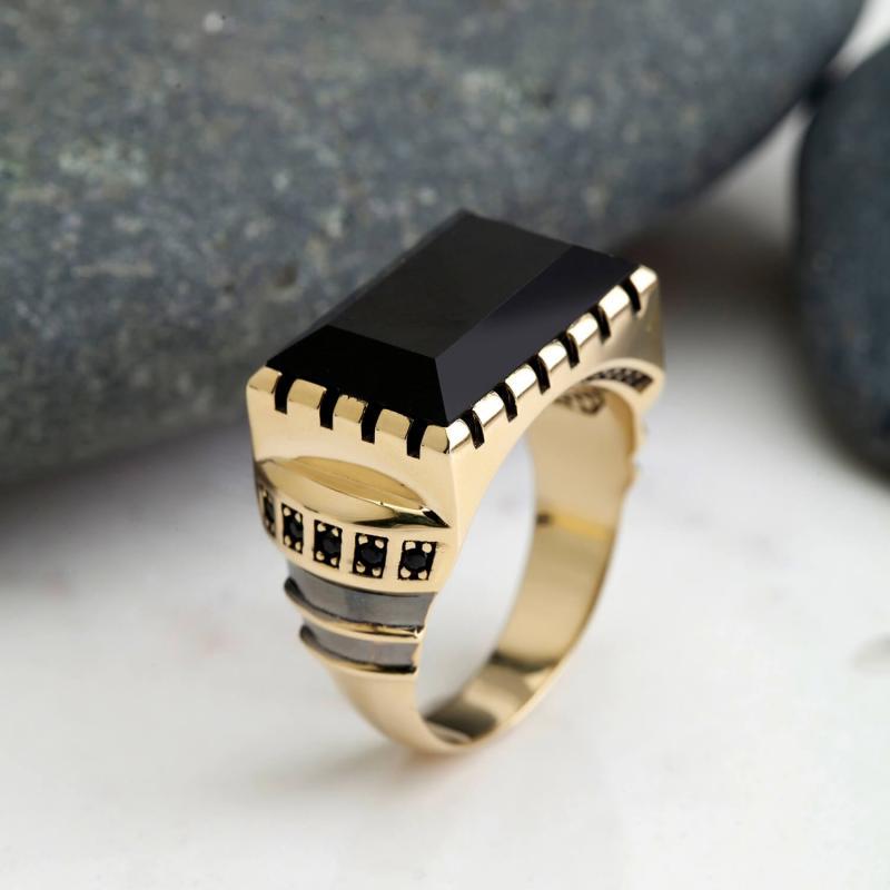 Altın Erkek Şahi Topu Yüzüğü