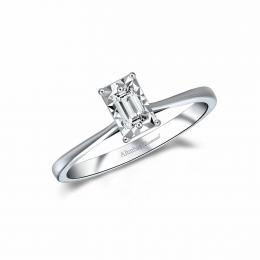 Baguette Solitaire Diamond Ring